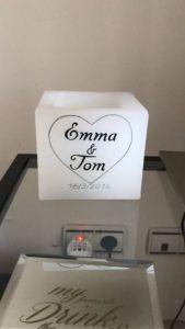 Vela hueca cuadrada Tom Emma